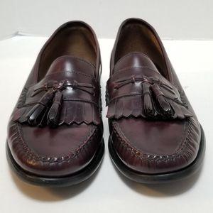 Bass Leather Jeffrey Tassel Loafers Maroon Size 11